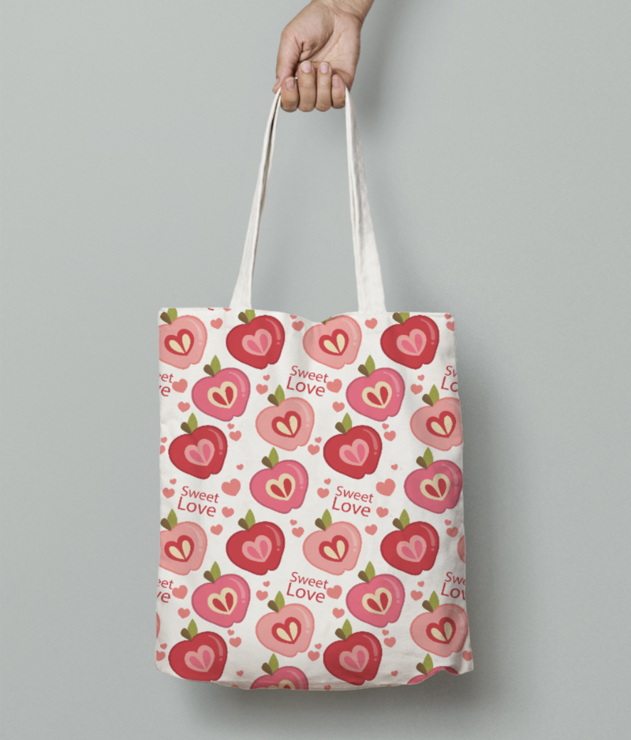 Sweet love tote bag front