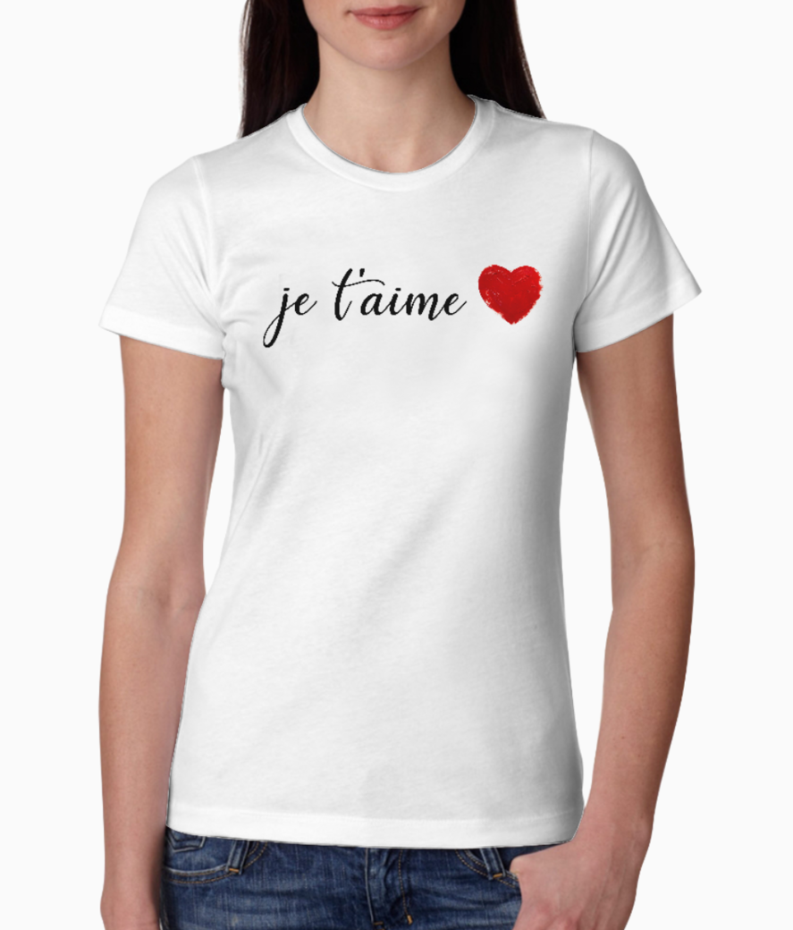 Je t'aime 2 tee front