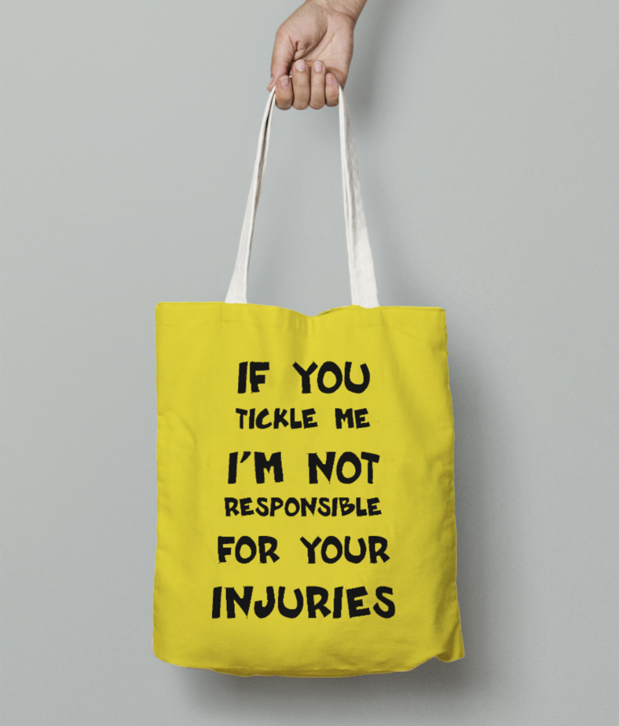 If you tickle me tote bag front
