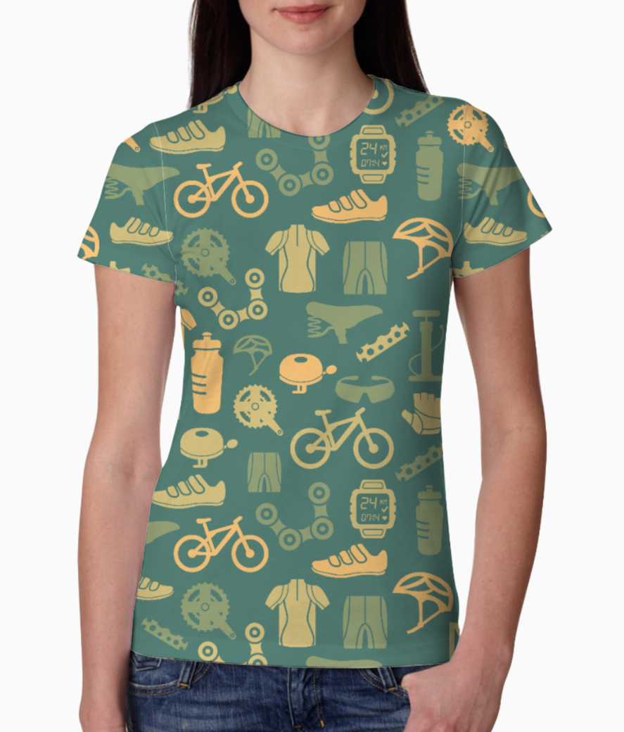 Cycling love tee front