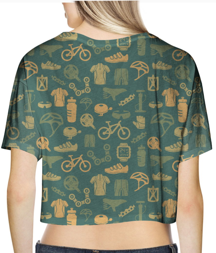 Cycling love crop top back