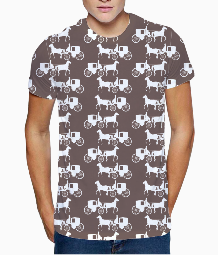 Seamless horse print t shirt front