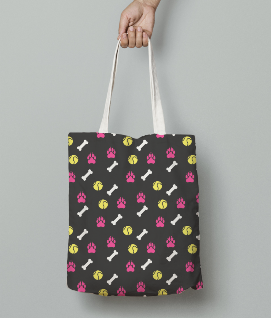 Dog love tote bag front
