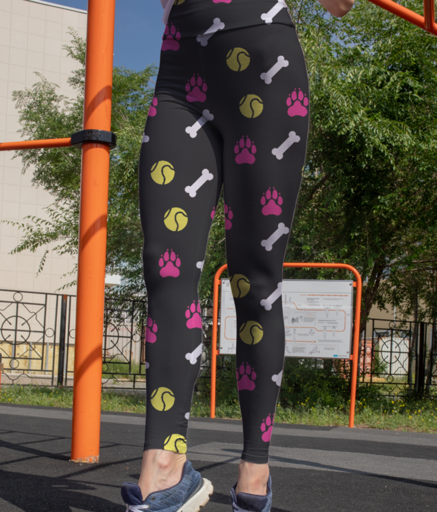 Dog love leggings front