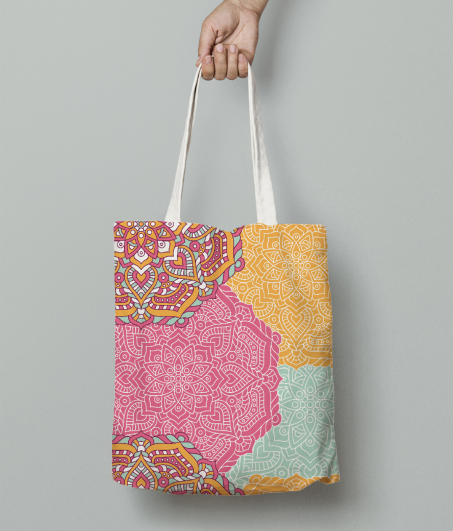 Ethnic pattern 5 tote bag front