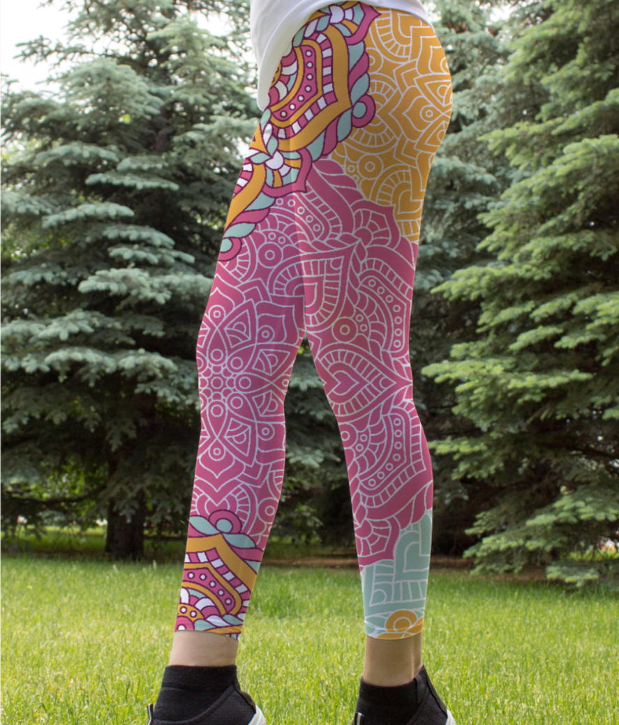 Ethnic pattern 5 leggings front