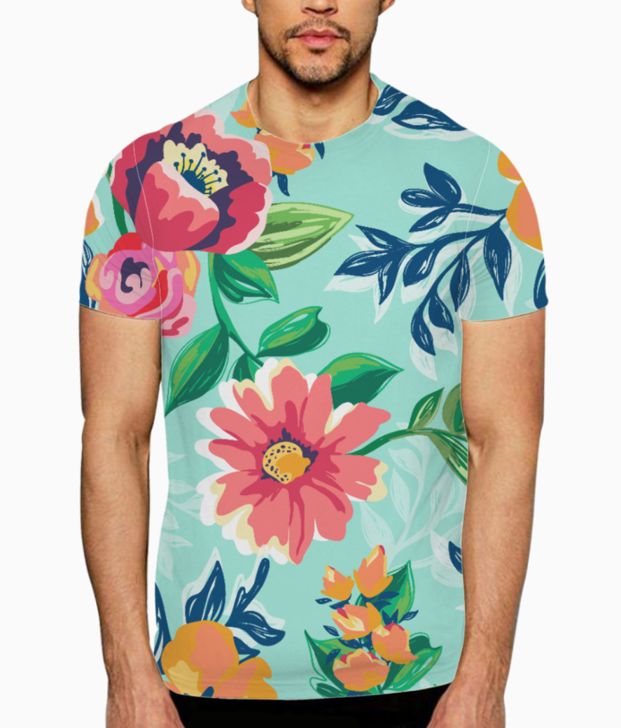 Floaral print t shirt front