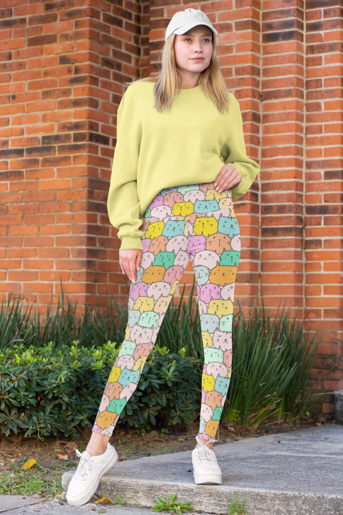 Mockup of a woman wearing high waisted leggings 31494