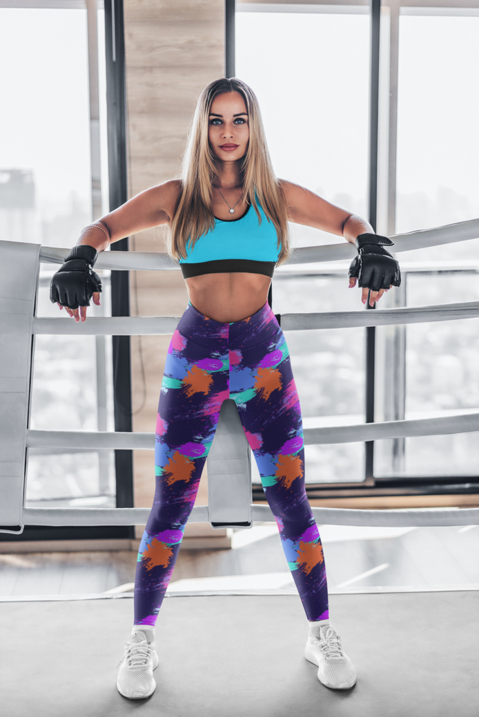 Leggings mockup featuring a woman in a boxing ring 4755 el1