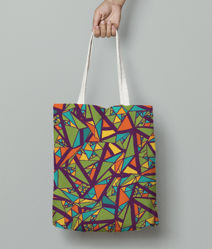 Aabstract art tote bag front
