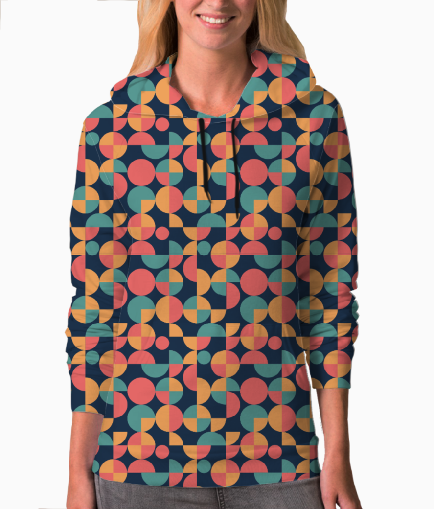 Beautiful shapes pattern hoodie front